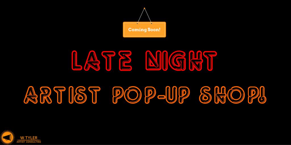 Introducing: The Artist Pop Up Shop!